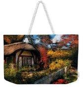 Cottage - Grannies Cottage Weekender Tote Bag by Mike Savad