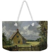 Cottage In A Cornfield Weekender Tote Bag by John Constable