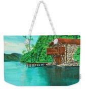 Cottage On Lake  Weekender Tote Bag