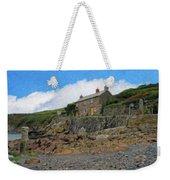 Cottage On Rocks At Port Quin - P4a16009 Weekender Tote Bag