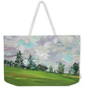 Cottage On The Hill Weekender Tote Bag