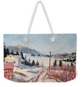 Cottage Road Weekender Tote Bag