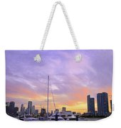 Cotton Candy Sunset Over Miami Weekender Tote Bag