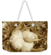 Cotton Sepia Weekender Tote Bag