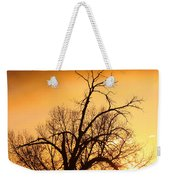 Cottonwood Sunrise - Vertical Print Weekender Tote Bag