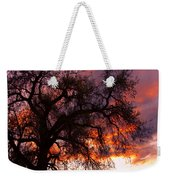 Cottonwood Sunset Silhouette Weekender Tote Bag
