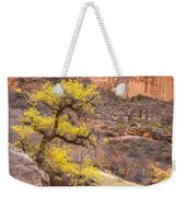 Cottonwood Tree With Vibrant Autumn Colour, Zion National Park, Utah Usa Weekender Tote Bag
