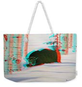 Cougar - Use Red-cyan 3d Glasses Weekender Tote Bag