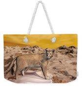 Cougar In The Mountain - 3d Render Weekender Tote Bag