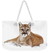 Cougar On White Weekender Tote Bag