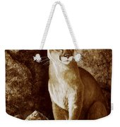 Cougar Wait Until Dark  Weekender Tote Bag