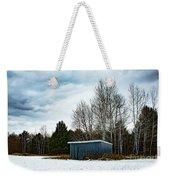 Country Barn In The Snow Weekender Tote Bag