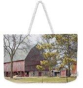 Country Barn With Pine Tree Weekender Tote Bag