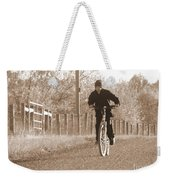 Country Boy And His Bike Weekender Tote Bag