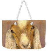 Country Charms Nubian Goat With Bright Eyes Weekender Tote Bag