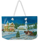 Country Christmas Weekender Tote Bag by Charlotte Blanchard
