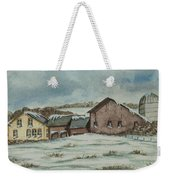 Country Farm In Winter Weekender Tote Bag
