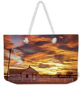 Country House Sunset Longmont Colorado Boulder County Weekender Tote Bag