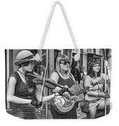 Country In The French Quarter 3 Bw Weekender Tote Bag