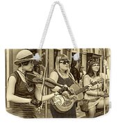 Country In The French Quarter 3 Sepia Weekender Tote Bag