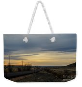 Country Morning School Bus Weekender Tote Bag