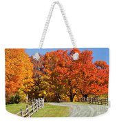 Country Road Autumn Weekender Tote Bag