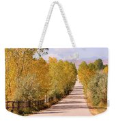 Country Road Autumn Fall Foliage View Of The Twin Peaks Weekender Tote Bag