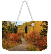Country Road In Autumn Weekender Tote Bag