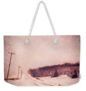 Country Road In Snow Weekender Tote Bag by Jill Battaglia