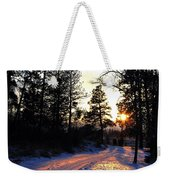 Country Road Sunset Weekender Tote Bag