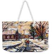 Purchase Best Original Quebec Winter Scene Paintings Achetez  Paysage De Quebec Cspandau Art Weekender Tote Bag
