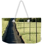 Country Road, Wheat Fields Weekender Tote Bag