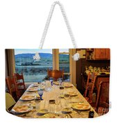 Country Table Setting Weekender Tote Bag