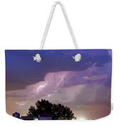 County Line Northern Colorado Lightning Storm Cropped Weekender Tote Bag
