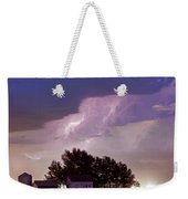 County Line Northern Colorado Lightning Storm Panorama Weekender Tote Bag