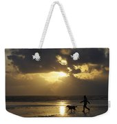 County Meath, Ireland Girl Walking Dog Weekender Tote Bag