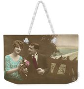Couple At Beach Colorized Weekender Tote Bag