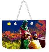 Couple Moon And Water Weekender Tote Bag
