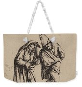Couple Walking Weekender Tote Bag