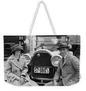 Couple With Their Peerless Car Weekender Tote Bag