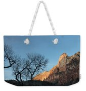 Court Of The Patriarchs Sunrise Zion National Park Weekender Tote Bag