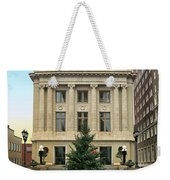 Courthouse At Christmas Weekender Tote Bag