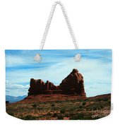Courthouse Rock In Arches National Park Weekender Tote Bag