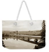 Very Long Covered Bridge Over A River Weekender Tote Bag