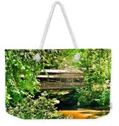 Covered Bridge At Lanterman's Mill Weekender Tote Bag