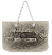 Covered Bridge In Black And White Weekender Tote Bag