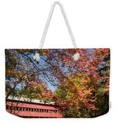 Covered Bridge Over The Swift River In Conway Weekender Tote Bag