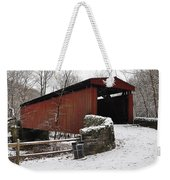 Covered Bridge Over The Wissahickon Creek Weekender Tote Bag by Bill Cannon