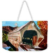 Covered Bridge Woodstock Vt Weekender Tote Bag