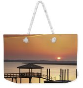 Covered Dock Weekender Tote Bag